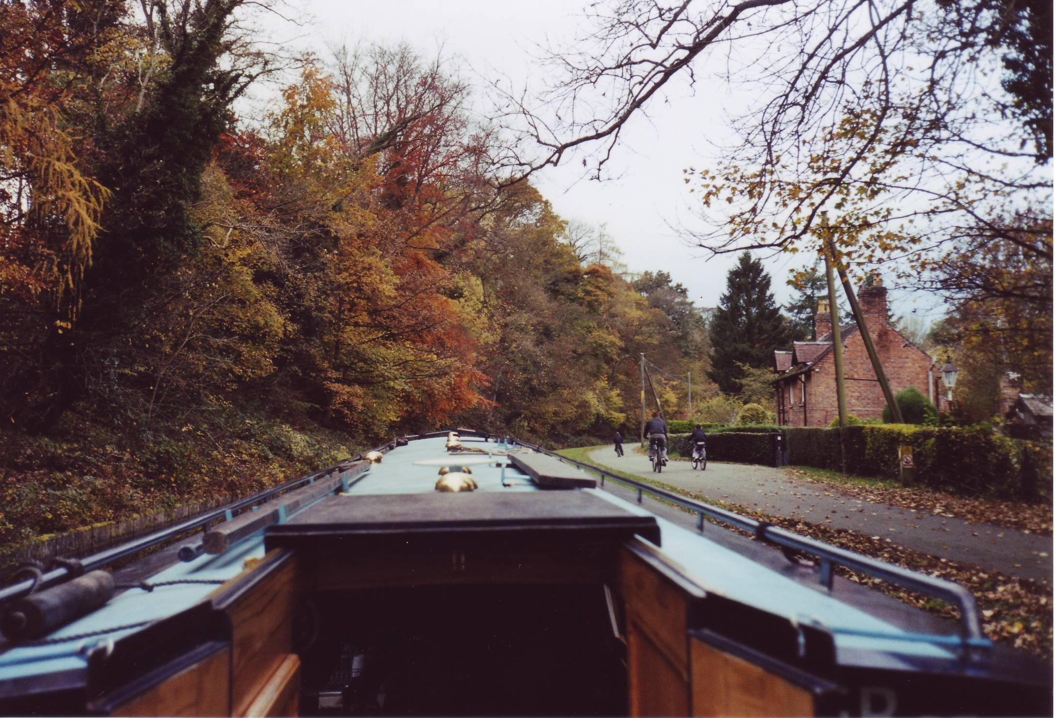 Narrowboat herfstkleuren