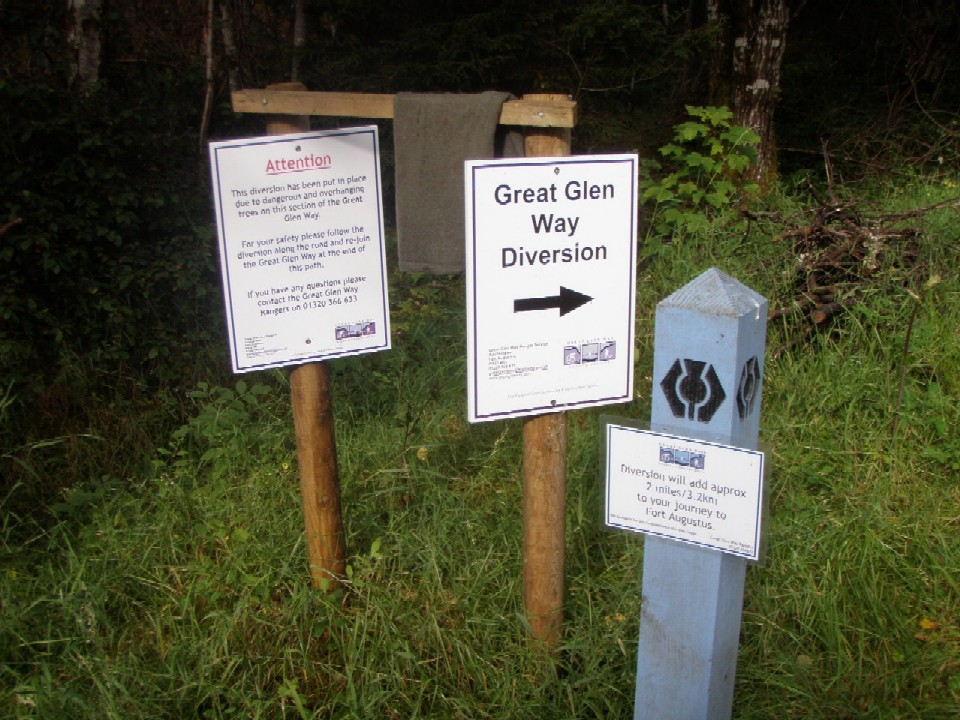 Great Glen way diversion